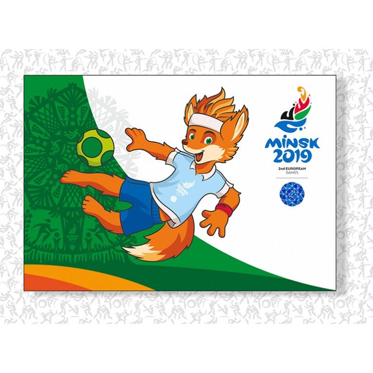 """Магнит """"Лесик. Пляжный футбол""""  II Европейские игры 2019"""