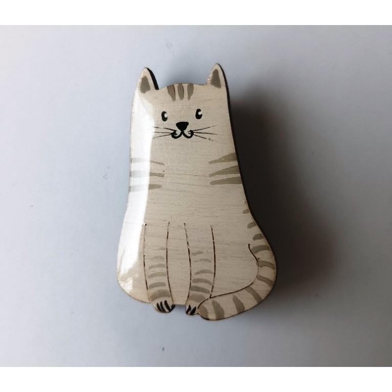 Брошь «Котик полосатый»