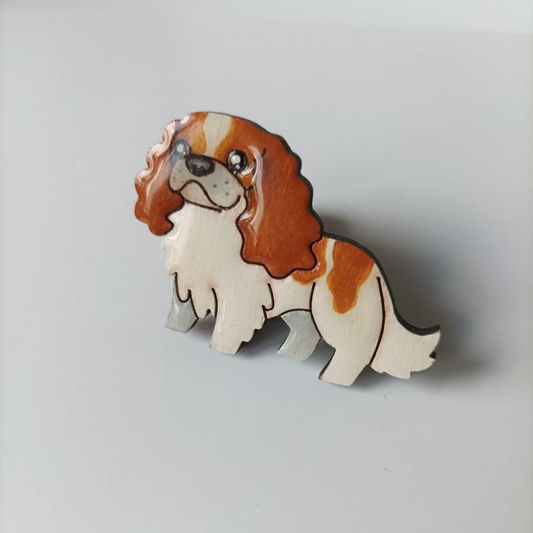 Брошь «Рыжий пёс»