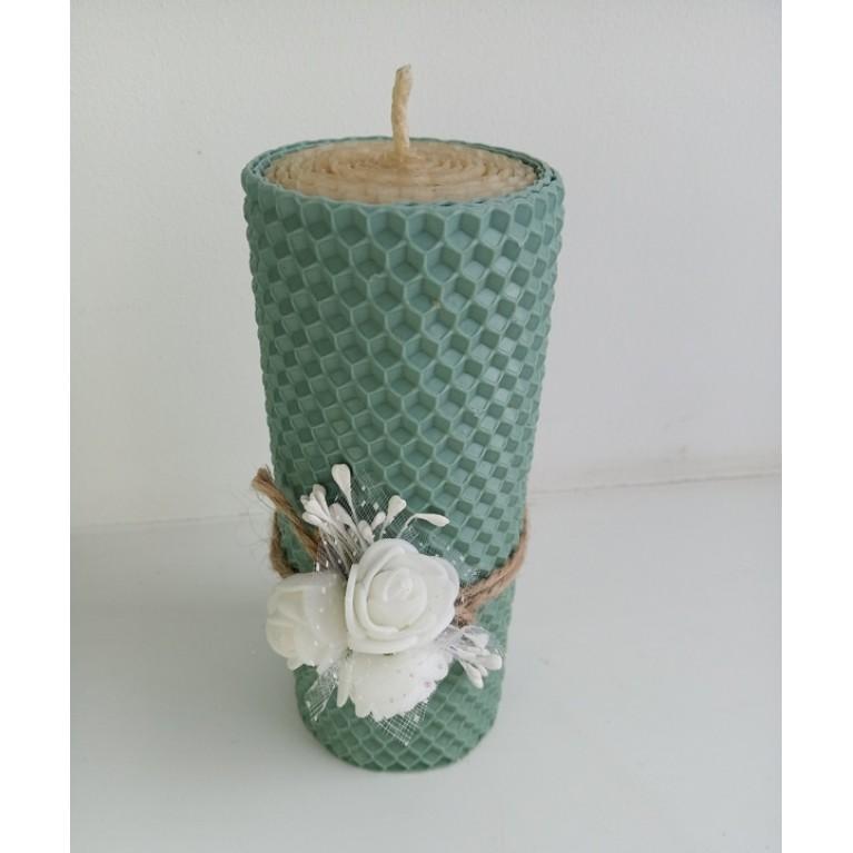 Свеча «Столбик с декором»