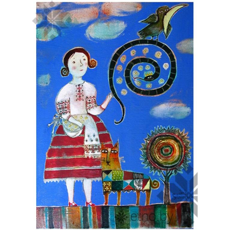 Магнит картина Анны Силивончик | #byetno